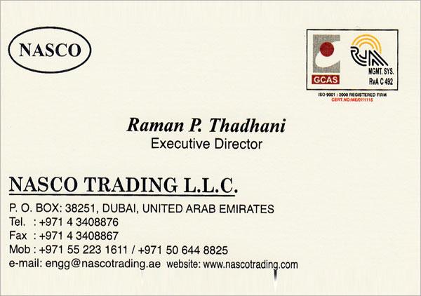 Nassco Trading DWC-LLC | Dubai - UAE