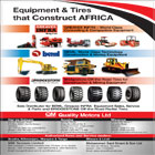 Equipment & Tires that construct Africa